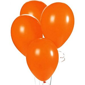 """Custom, Fun & Cool {Big Large Size 12"""" Inch} 1500 Bulk Pack of Helium & Air Latex Rubber Balloons w/ Modern Simple Celebration Party Special Event Decor Design [In Bright Orange]"""