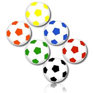 Custom & Unique {25mm} 48 Bulk Pack, Mid-Size Super High Bouncy Balls, Made of Grade A+ Rebound Rubber w/ Bright Neon Abstract Rainbow Checked Sports Player Soccer Ball Pattern Style (Multicolor)