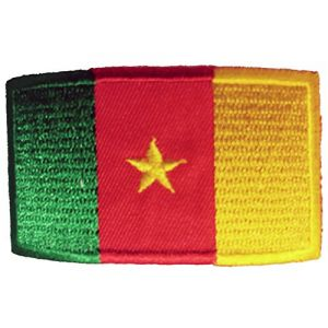 FNG Car Iron on SewDecals Flag Embroidered Iron on Sew on Badges Patches - Asia & Africa (Country: Cameroon)