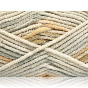"""Fabulous Crafts {480 Total Yards / 400g} 4 Skeins Pack of Durable"""" Size 5 Bulky Thick Chunky"""" Yarn for Knitting, Crochet & More, Made of Acrylic & Polyamide {White, Light Grey, Khaki, Beige}"""