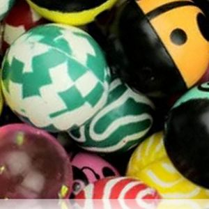 Custom & Unique {27mm} 2000 Bulk Pack, Mid-Size Super High Bouncy Balls, Made of Grade A+ Rebound Rubber w/ Glittery Sparkling Zigzags Stripes Splotchy Two-Tone Lady Bug Swirling Maze (Multicolor)