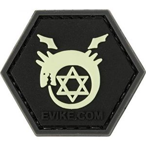 "Evike ""Operator Profile PVC Hex Patch Anime Series (Style: Glow in The Dark - Ouroboros)"