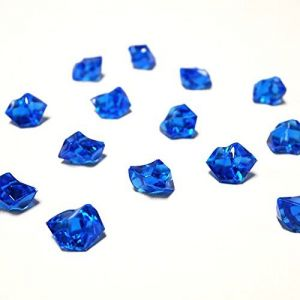 """Custom & Fancy {0.8"""" x 1"""" Inch} Approx 165 Pieces/16 oz of """"Table"""" Party Confetti Made of Genuine Acrylic w/ Cobalt Sapphire Color Elegant Modern Translucent Rock Shards Scatter Design [Blue]"""