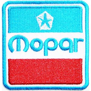 MOPAR Logo Sign Chrysler Hot Rod Nos Dodge Car Racing Patch Iron on Applique Embroidered T shirt Jacket Cloth Custom Gift BY SURAPAN