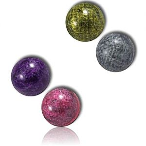Custom & Unique {27mm} 500 Bulk Pack, Mid-Size Super High Bouncy Balls, Made of Grade A+ Rebound Rubber w/ Shiny Metallic Glossy Glitzy Clouded Whirlpooled Chrome Sparkling Swirly Twirly (Multicolor)