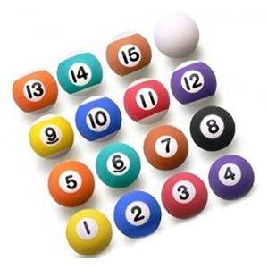 Custom & Unique {27mm} 16 Count Pack, Mid-Size Super High Bouncy Balls, Made of Grade A+ Rebound Rubber w/ Solid & Stripe Vibrant Matte Billiards Pool Table Party Hipster Vivid Style (Multicolor)