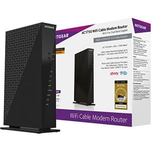 Netgear C6300-100NAS AC1750 (16x4) DOCSIS 3.0 WiFi Cable Modem Router Combo (C6300) Certified for Xfinity from Comcast, Spectrum, Cox, Cablevision & more