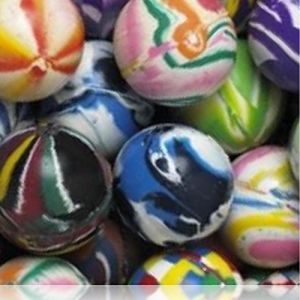 Custom & Unique {27mm} 2000 Bulk Pack, Mid-Size Super High Bouncy Balls, Made of Grade A+ Rebound Rubber w/ Clouded Plaid Solid Checkered Glittery Cosmic Striped Zigzags Dappled Splotchy (Multicolor)