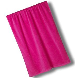 """Custom & Luxurious {30"""" x 60"""" Inch} 1 Single Large & Thin Soft Summer Beach & Bath Towels Made of Quick-Dry Cotton w/ Bold Wide Solid Classic Magenta Lounging Vacation Souvenir Style [Pink]"""