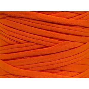 """Fabulous Crafts {87 Total Yards / 400g} 1 Cone Pack of Durable"""" Size 6 Super Bulky Chunky Thick Roving"""" Yarn for Knitting, Crochet & More, Made of 95% Cotton & 5% Elastan w/Basket Yarn St {Orange}"""