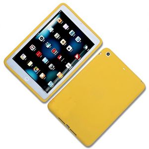 """Golden Yellow {Simple Matte Plain} Soft and Smooth Silicone Cute 3D Fitted Bumper Back Cover Gel Case for iPad Mini 1, 2 and 3 by Apple """"Durable and Slim Flexible Fashion Cover with Amazing Design"""""""