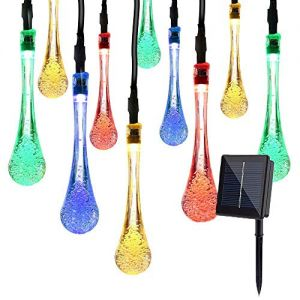 XDlight Solar String Lights, 16.5 FT 30 LED Multi Color Outdoor Waterproof Fairy Light for Christmas,Patio,Garden,Xmas,Yard,Garden Decoration.