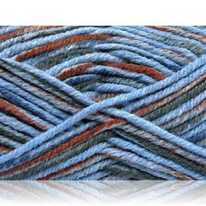 """Fabulous Crafts {480 Total Yards / 400g} 4 Skeins Pack of Durable"""" Size 5 Bulky Thick Chunky"""" Yarn for Knitting, Crochet & More, Made of Acrylic & Polyamide w/Artic Style {Brown, Blue, Grey}"""