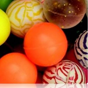 Custom & Unique {27mm} 500 Bulk Pack, Mid-Size Super High Bouncy Balls, Made of Grade A+ Rebound Rubber w/ Musical Notes Zigzaging lines Maze Glittering Sparkling Solid Striped Swirled (Multicolor)