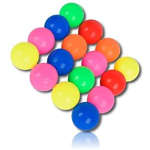 Custom & Unique {25mm} 144 Bulk Pack, Mid-Size Super High Bouncy Balls, Made of Grade A+ Rebound Rubber w/ Shiny Classic Bright Colorful Neon Rainbow Vibrant Solid Tone Pattern Style (Multicolor)