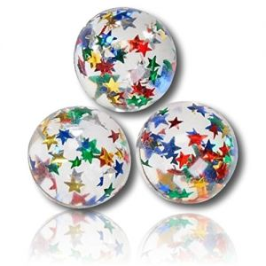 Custom & Unique {32mm} 100 bulk Pack , Mid-Size Super High Bouncy Balls, Made of Grade A+ Rebound Rubber w/ Galaxy Star Glimmery Cosmos Glittery Shimmering Sparkling Speckles Polished (Multicolor)