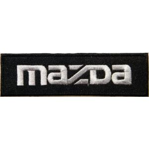 MAZDA Logo Sign Car Truck Racing Patch Iron on Applique Embroidered T shirt Jacket Costume BY SURAPAN