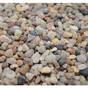 "Safe & Non-Toxic {Small Size, 0.11"" to 0.19"" Inch} 40 Pound Bag of Gravel & Pebbles Decor for Freshwater & Saltwater Aquarium w/ Simple Iridescent Natural Sleek Earthy Style [Black, Brown & Tan]"