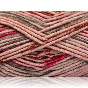 """Fabulous Crafts {480 Total Yards / 400g} 4 Skeins Pack of Durable"""" Size 5 Bulky Thick Chunky"""" Yarn for Knitting, Crochet & More, Made of Acrylic & Polyamide {Brown, Grey, Fuchsia, Light Pink}"""