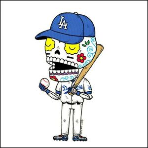 LA Dodgers - Weather Proof Die Cut Vinyl Day of the Dead Sticker