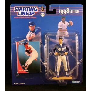 HIDEO NOMO / LOS ANGELES DODGERS 1998 MLB Starting Lineup Action Figure & Exclusive Collector Trading Card