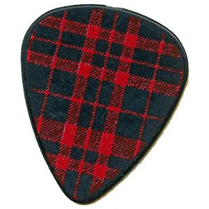 "Unique and Custom (.71 MM Thick) Medium Gauge Hard Plastic, Traditional Style""Semi Tip"" Guitar Pick w/Cool Checkered Plaid Flannel Design {Red & Black - One Single Pick}"