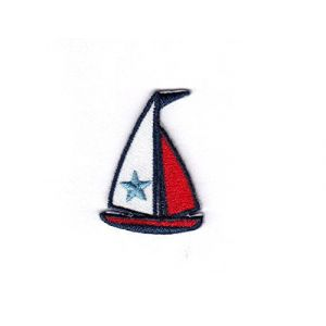 35dcc1bfbb610 SAILBOAT (Small) Iron On Embroidered Patch Nautical Ocean Sea Boat