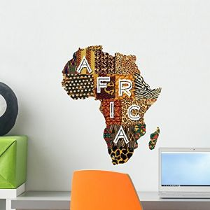 Wallmonkeys Patchwork Africa Wall Decal by Peel and Stick Graphic (18 in H x 15 in W) WM366895