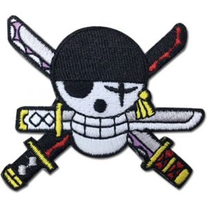One Piece Zoro New World Skull Patch Anime Patches