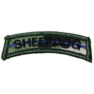 "[Single Count] Custom, Cool & Awesome {3.5"" x 1"" Inches} Small US Armed Forces Bad Ass Military Sheepdog Camo Text Arm Badge (Tactical Type) Velcro Patch ""Black & Green"""