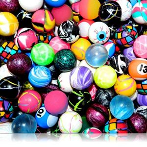 Custom & Unique {27mm} 4000 Bulk Pack, Mid-Size Super High Bouncy Balls, Made of Grade A+ Rebound Rubber w/ Vibrant Camo, Swirl, Checkered, Zigzag, Solid, Numbered, & Wacky Faces Design (Multicolor)