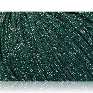 """Fabulous Crafts {696 Total Yards / 400g} 8 Balls Pack of Durable"""" Size 4 Medium Worsted Aran"""" Yarn for Knitting, Crochet & More, Made of Wool, Acrylic, Metallic Lurex w/Glitz {Green & Silver}"""