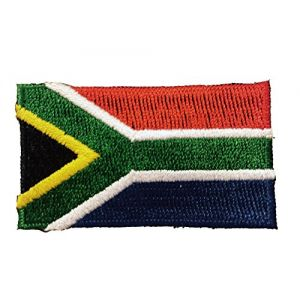 Flag Embroidered Iron on Sew on Badges Patches - Asia & Africa (Country: South Africa)