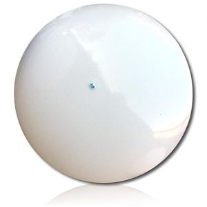 """ULTRA Durable & Custom {120"""" Inch} 1 Single of XXL Behemoth-Size Inflatable Beach Ball for Summer Fun, Made of Lightweight FLEX-Resin Plastic w/ Shiny Solid Plain Blank Canvas Pure Color Style {White}"""