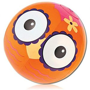 "ULTRA Durable & Custom {11"" Inch} 4 Pack of Mid-Size Inflatable Beach Balls for Summer Fun, Made of Lightweight FLEX-Resin Plastic w/ Cute Nocturnal Owl Bird Hoot Hoot Flower Hawaiian {Multicolor}"