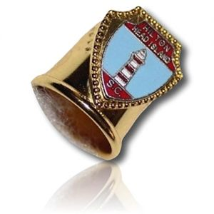 Custom & Collectable {11mm Hgt.x 17mm Dia} 1 Single, Mid-Size Sewing Thimble Made of Fine-Grade Metal w/ Hilton Head Island South Carolina Light House Waves Water Metallic [Gold, Silver, Red & Blue]