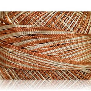 """Fabulous Crafts {1638 Total Yards / 300g} 6 Cakes Pack of Durable"""" Size 0 Lace Weight Fingering"""" Yarn for Knitting, Crochet & More, Made of 100% Micro Fiber w/Armadillo Design {Light Brown & Beige}"""