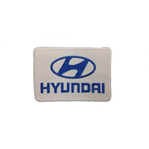 HYUNDAI Iron On Patch Embroidered Grand Prix Motif Applique F1 Formula One Race Sports Car Motorsports Decal 3.5 x 2.5 inches (8.8 x 6.3 cm)