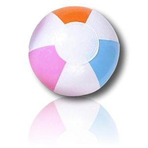 "ULTRA Durable & Custom {5"" Inch} 18 Bulk Pack of Small-Size Inflatable Beach Balls for Summer Fun, Made of Lightweight FLEX-Resin Plastic w/ Light & Bright Pastel Wedge Stripes Pattern {Multicolor}"