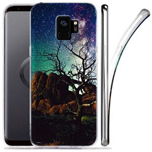 Galaxy S9 Case, ZUSLAB Nebula Pattern Design, Slim Flexible Shockproof TPU, Soft Rubber Silicone Glossy Skin Cover for Samsung Galaxy S9, 2018 (Nebula A4)