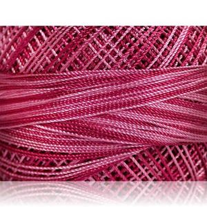 """Fabulous Crafts {1638 Total Yards / 300g} 6 Cakes Pack of Durable"""" Size 0 Lace Weight Fingering"""" Yarn for Knitting, Crochet & More, Made of 100% Micro Fiber w/Ballerina St {Orchid & Pink Shades}"""