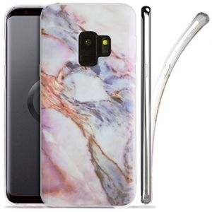 Galaxy S9 Case, ZUSLAB Nebula Pattern Design, Slim Flexible Shockproof TPU, Soft Rubber Silicone Glossy Skin Cover for Samsung Galaxy S9, 2018 (Marble eye)