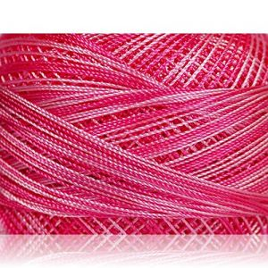 """Fabulous Crafts {1638 Total Yards / 300g} 6 Cakes Pack of Durable"""" Size 0 Lace Weight Fingering"""" Yarn for Knitting, Crochet & More, Made of 100% Micro Fiber w/Orchid Flower Style {Pink Shades}"""