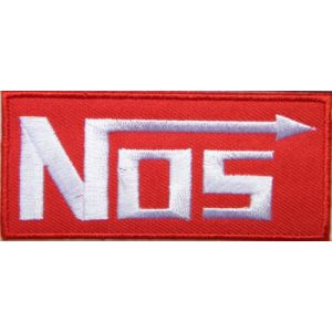 NOS NITROUS Logo Sign Sponsor Motorsport Racing Race Biker Car Motorcycle Team Patch Iron on Applique Embroidered T shirt Jacket Costume BY SURAPAN