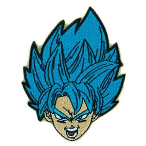 Dragon Ball Z Goku Super Saiyan Blue Patch Iron on Applique Anime Cosplay Clothing
