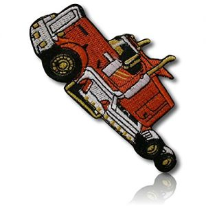 "[1 Count Single] Custom and Unique (3.8"" x 2"" Inch) ""Industrial"" Construction Mechanical Building Engineer Worker Semi Truck Machine Vehicle Design Iron On Embroidered Applique Patch {Multicolor}"
