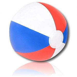 """ULTRA Durable & Custom {12"""" Inch} 48 Wholesale Pack of Mid-Size Inflatable Beach Balls for Summer Fun, Made of Lightweight FLEX-Resin Plastic w/ Patriot USA Flag American Patriotic Style {Multicolor}"""