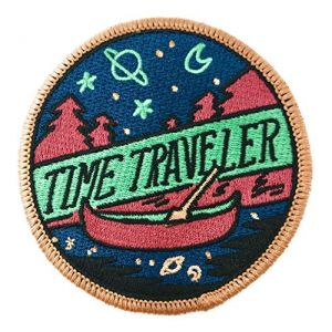 O'Houlihans - Time Traveler Iron on Patch - Hiking, Camping, Travel, Adventure Patch