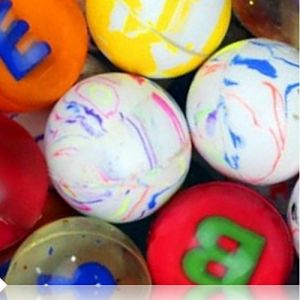 Custom & Unique {27mm} 2000 Bulk Pack, Mid-Size Super High Bouncy Balls, Made of Grade A+ Rebound Rubber w/ Letters Maze Clouded Glittering Checkered Plaid Shiny Swirled Solid Striped (Multicolor)
