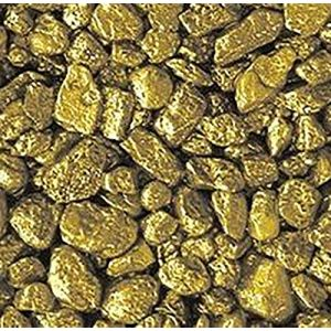 "Safe & Non-Toxic {Small Size, 0.12"" Inch} 3 Pound Bag of Gravel & Pebbles Decor Made of Genuine Quartz for Freshwater Aquarium w/ Bold Metallic Trendy Simple Edgy Shimmering Vibrant Style [Gold]"